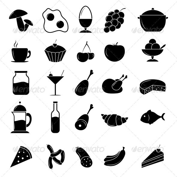 GraphicRiver Food Icon Set 7554810