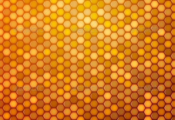 GraphicRiver Abstract Background from Hexagons 7554831