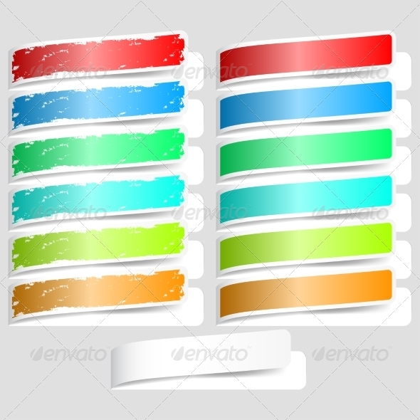 GraphicRiver Colorful Paper Labels 7554872