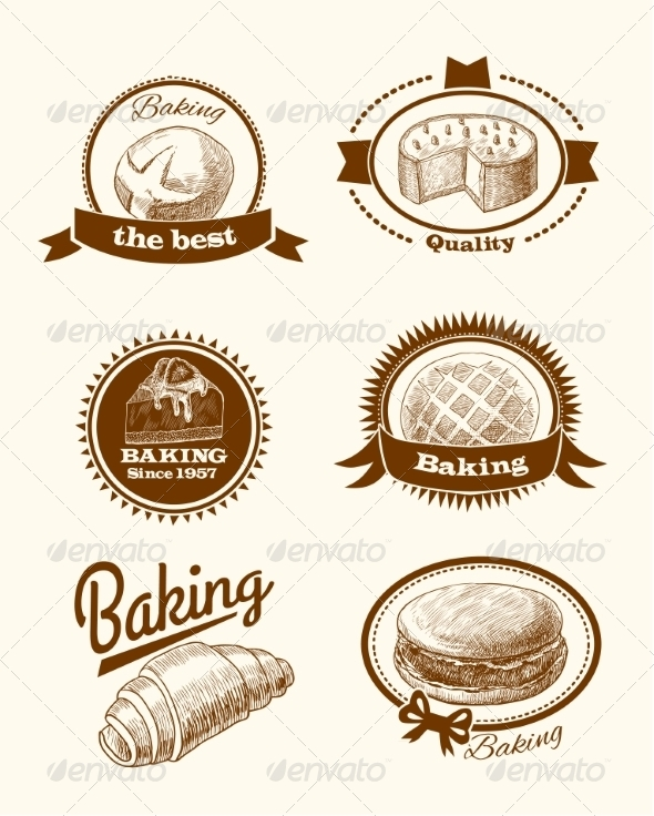GraphicRiver Pastry and Bread Labels 7555060