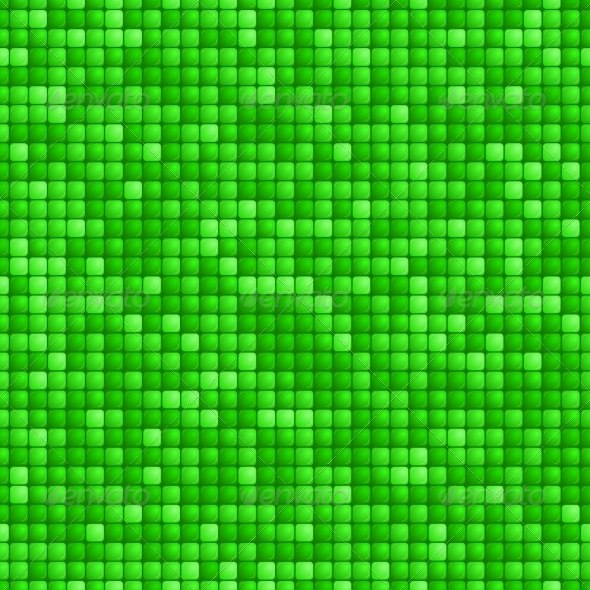 GraphicRiver Seamless Green Tile Pattern 7555089