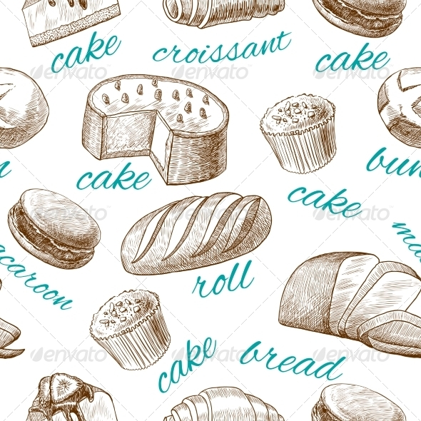GraphicRiver Baking Pastry Seamless Wallpaper 7555092