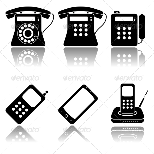 GraphicRiver Phones Icon Set 7555095