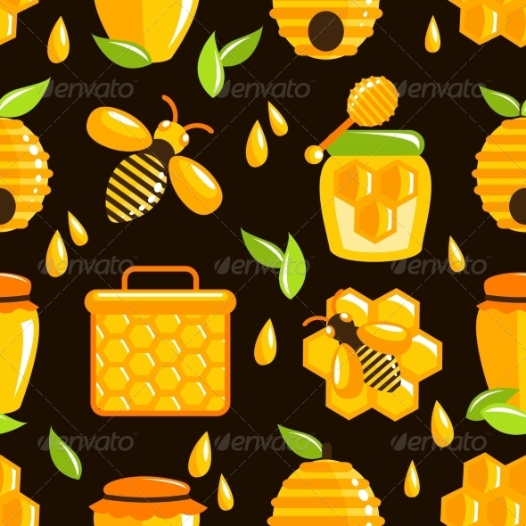 GraphicRiver Honey Seamless Pattern 7555132