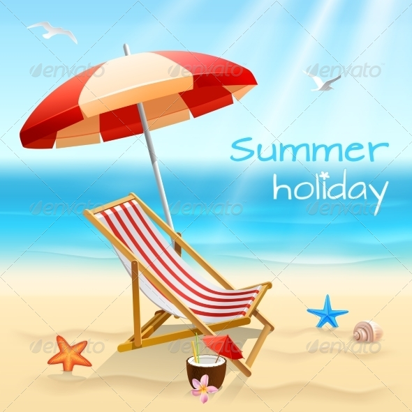 GraphicRiver Summer Holidays Background Poster 7555146