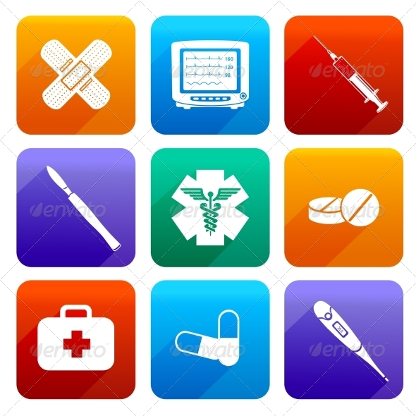 GraphicRiver Flat Medical Icons 7555149