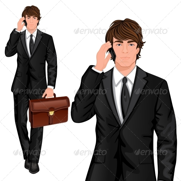GraphicRiver Young Businessman Standing 7555202