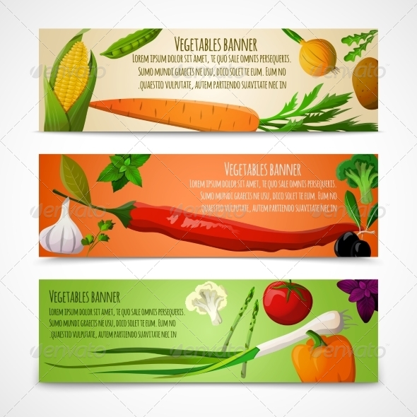 GraphicRiver Vegetables Horizontal Banners 7555254