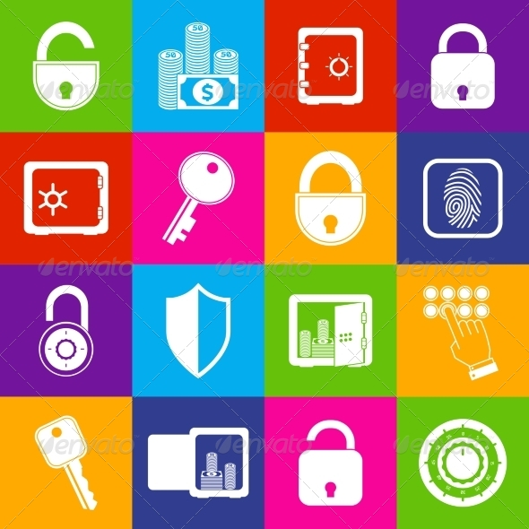 GraphicRiver Lock Safe Icons 7555302