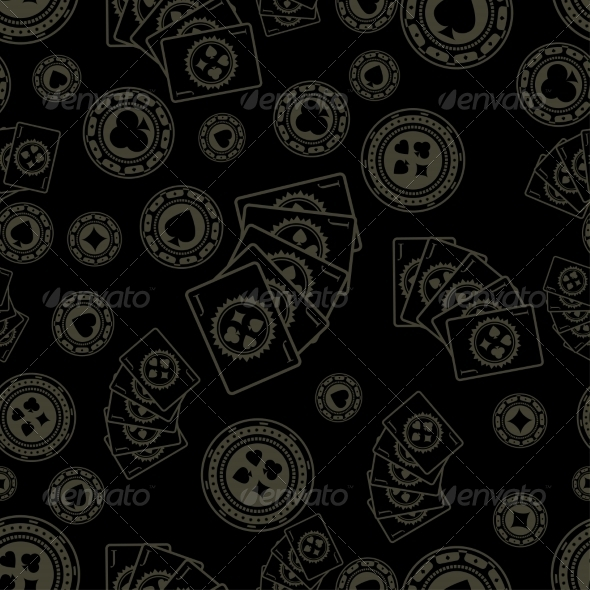 GraphicRiver Dark Poker Pattern 7555461
