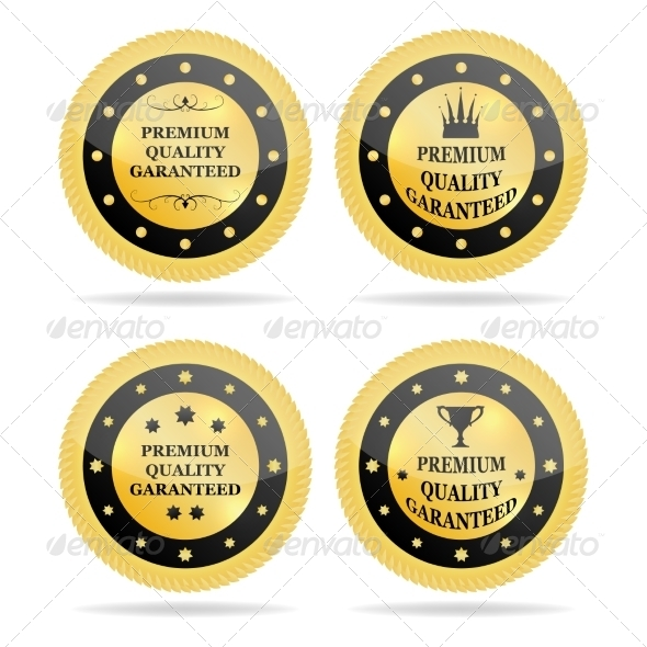 GraphicRiver Quality Golden Badges 7555471