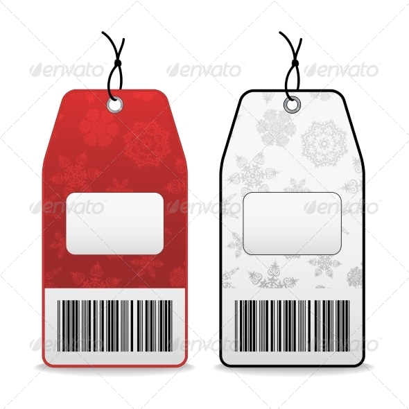 GraphicRiver Price Tags with Snowflakes 7555475