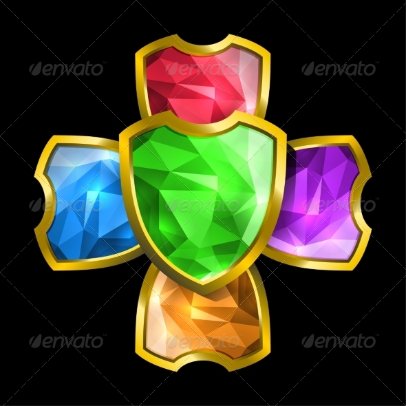 GraphicRiver Crystal Shields 7555491