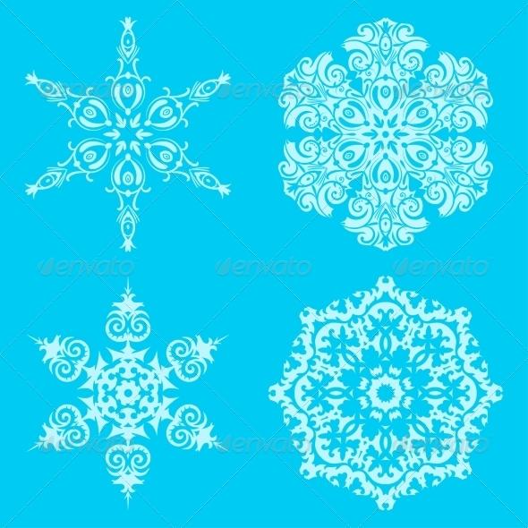 GraphicRiver Snowflakes 7555492