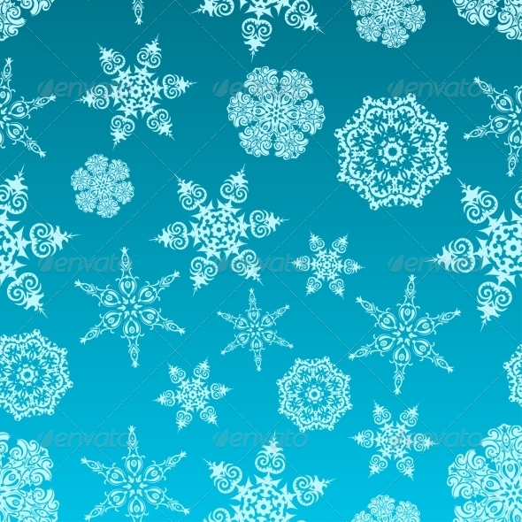 GraphicRiver Snowflakes Pattern 7555494