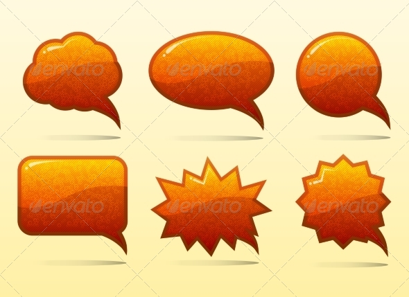 GraphicRiver Set of Glass Speech Bubbles 7555495