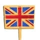 Wooden Plate with British flag - GraphicRiver Item for Sale