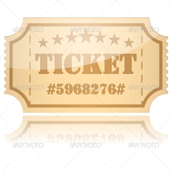 GraphicRiver Vector Ticket 7555556