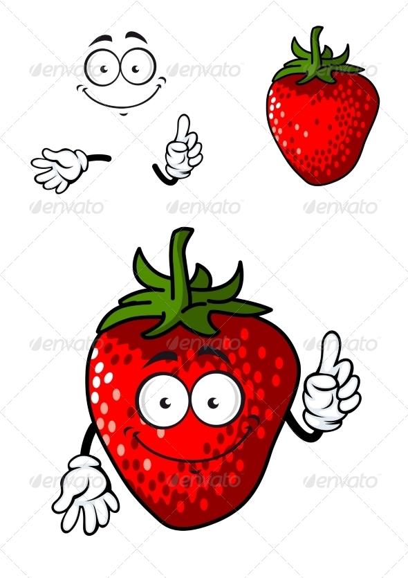 GraphicRiver Strawberry Cartoon 7555653