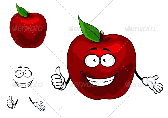 GraphicRiver Apple Cartoon 7555697