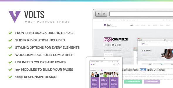 ThemeForest Volts Highly Flexible Multipurpose Theme 7555989