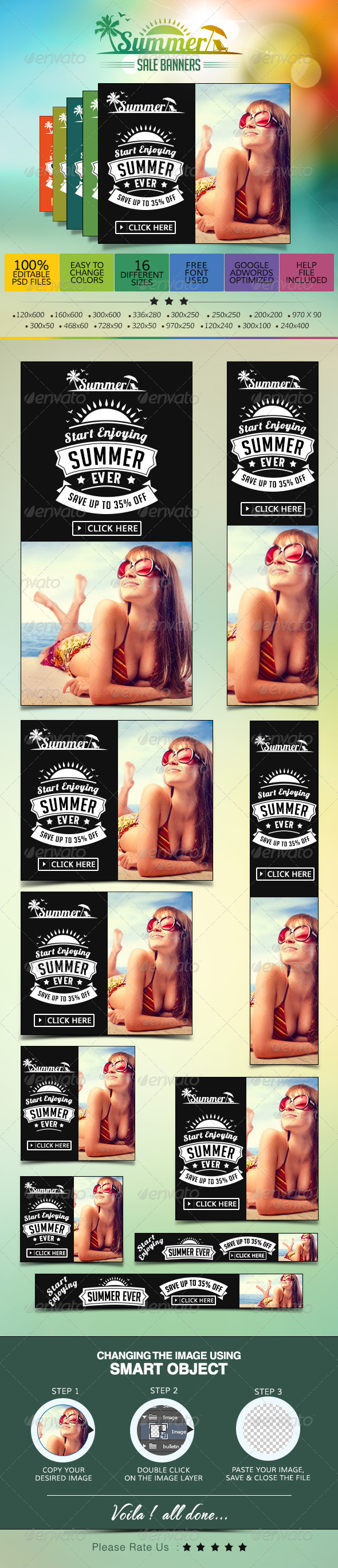GraphicRiver Summer Holiday Sale Banners 7556182