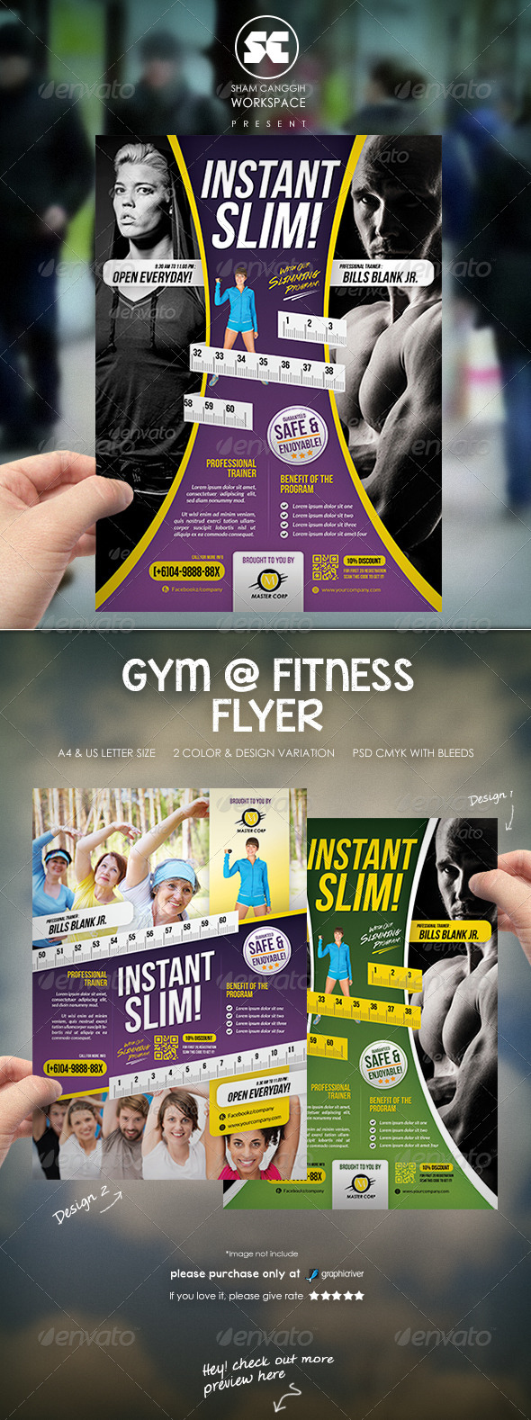 Fitness And Gym Flyer / Magazine Ads