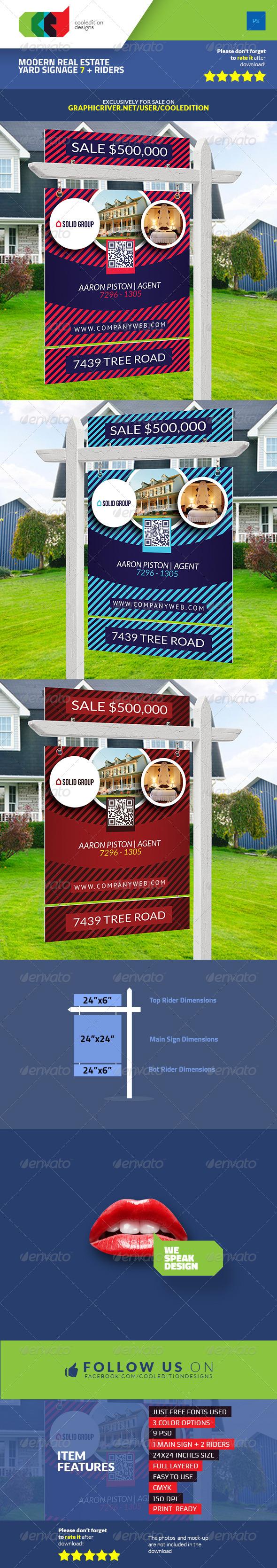 Modern Real Estate Yard Signage 7 & Riders