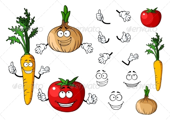 GraphicRiver Vegetable Cartoons 7557122