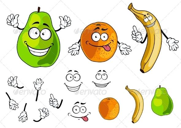 GraphicRiver Fruit Cartoons 7557126