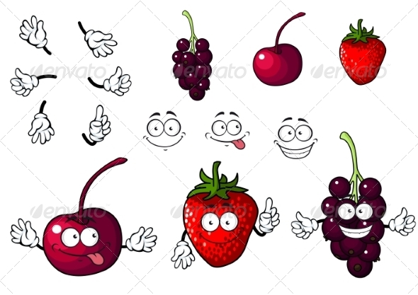 GraphicRiver Berries Cartoons 7557128