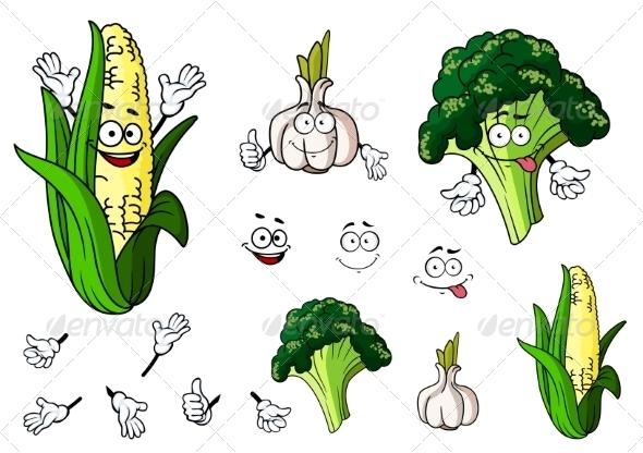 GraphicRiver Vegetable Cartoons 7557237