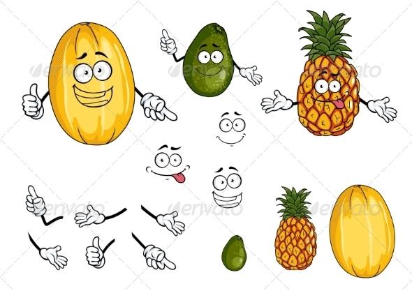 GraphicRiver Fruit Cartoons 7557240