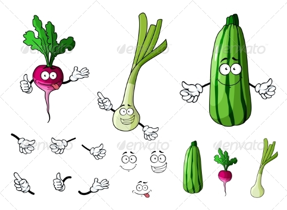 GraphicRiver Vegetable Cartoons 7557241