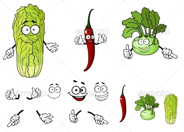 GraphicRiver Vegetable Cartoons 7557260