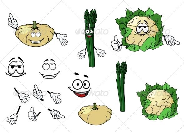 GraphicRiver Vegetable Cartoons 7557271