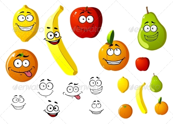 Fruit Cartoons