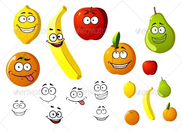 GraphicRiver Fruit Cartoons 7557274