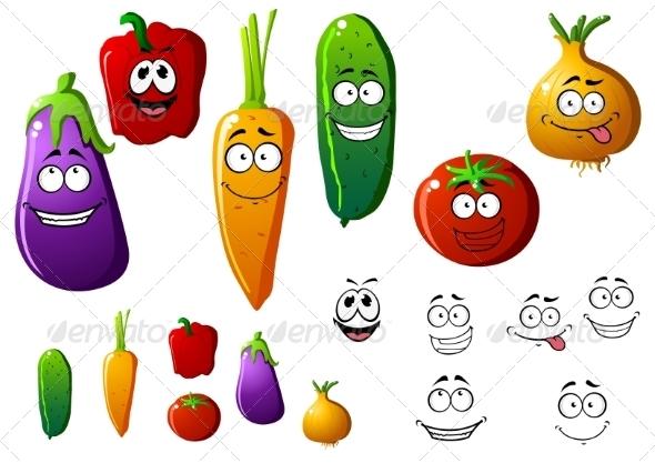 GraphicRiver Vegetable Cartoons 7557277