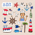 Hand drawn Nautical Elements - PhotoDune Item for Sale