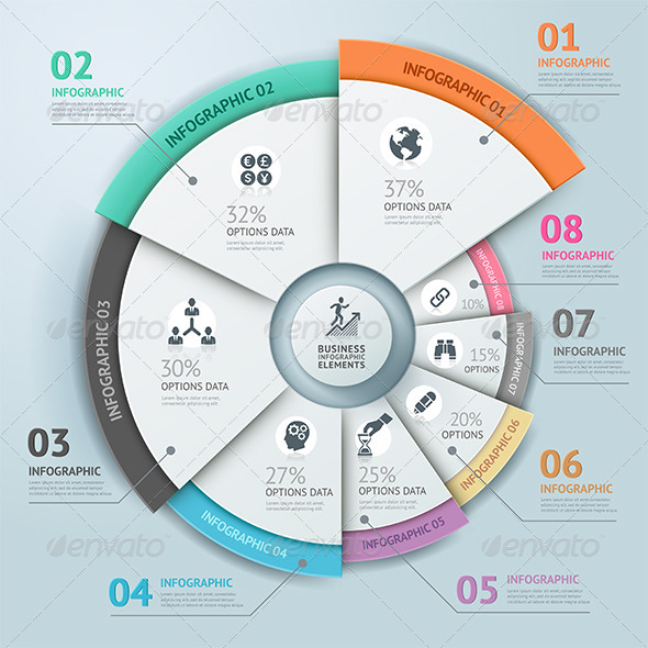 GraphicRiver Business Infographic Circle Icon Template 7557972