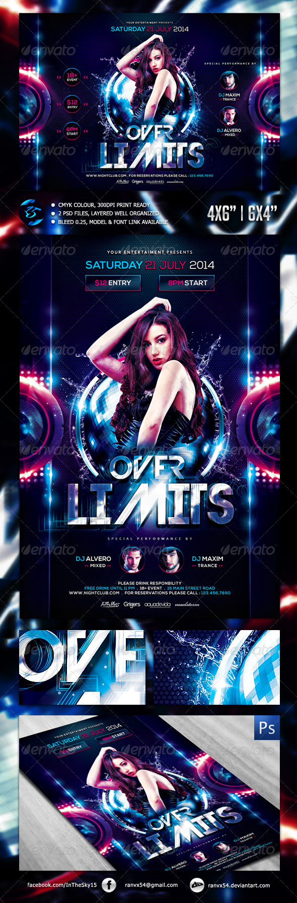 GraphicRiver Over Limits V2 Flyer Template 7558125