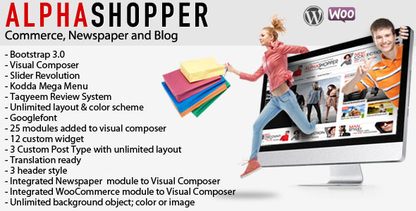 ThemeForest Alphashopper Clean Newspaper and WooCommerce WP 7376943