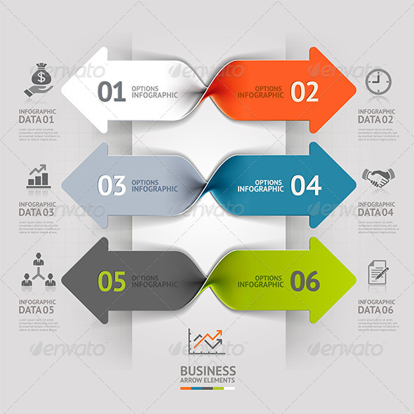 GraphicRiver Modern Arrow Business Spiral Infographic Banner 7558956