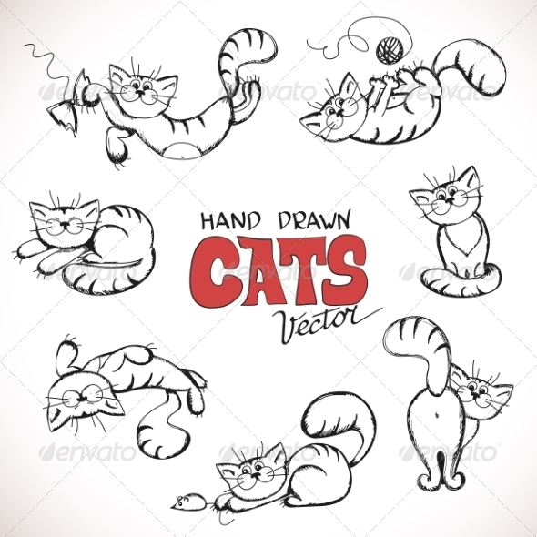 GraphicRiver Playful Cats 7559304