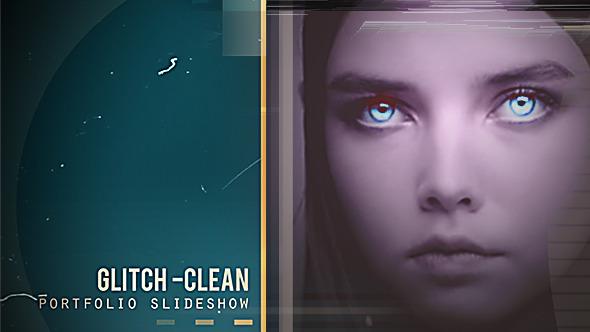 Glitch Clean Portfolio Slideshow