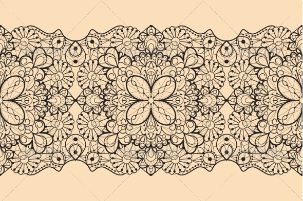 GraphicRiver Seamless Lace Ribbon 7559356