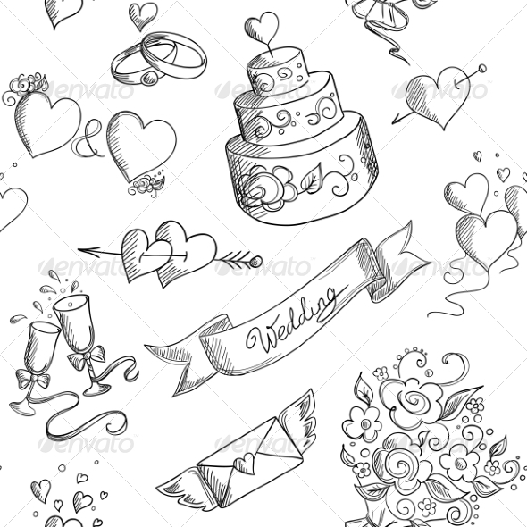 GraphicRiver Wedding Pattern 7559430