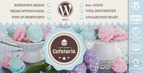 Cafeteria Responsive WordPress Theme - Food Retail
