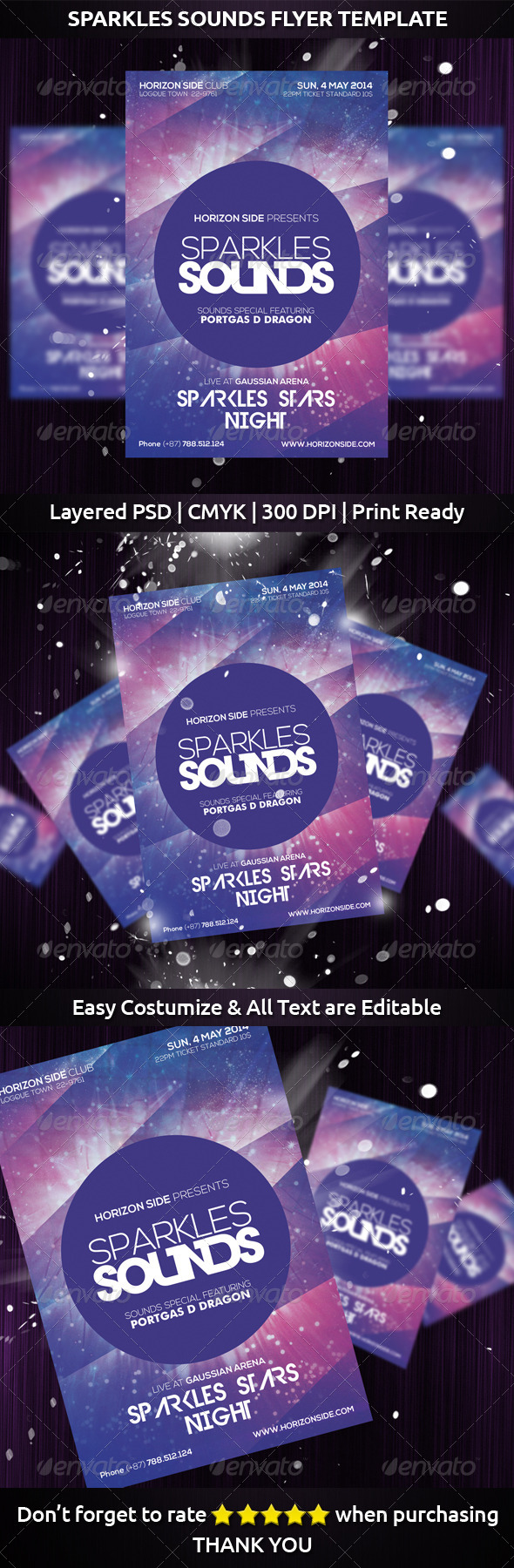 GraphicRiver Sparkles Sounds Flyer Template 7549029